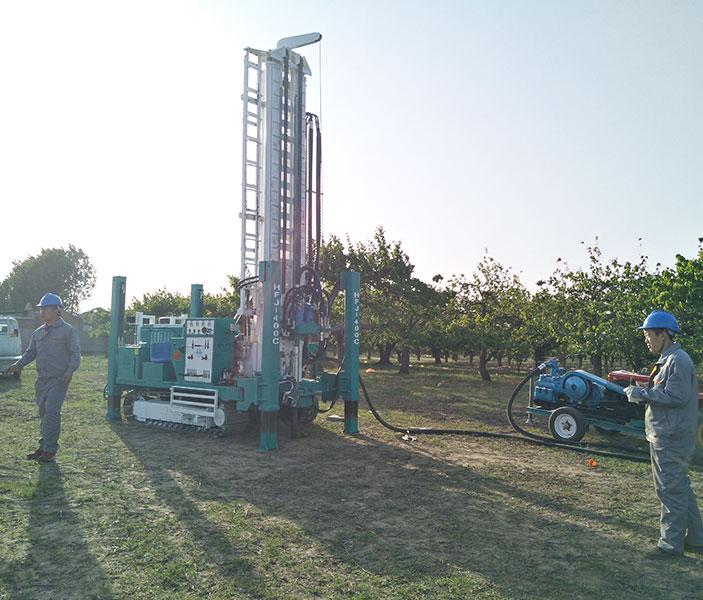 HFJ400C水井钻机出厂前的测试工作